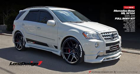 mercedes tuning parts mercedes ml w164 tuning wide kit lenzdesign