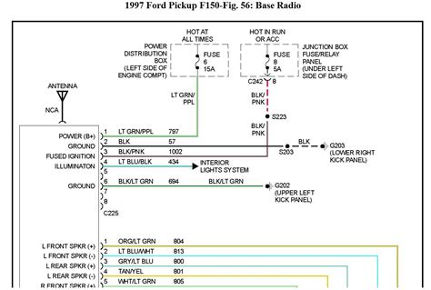 1999 ford f 150 stereo wiring diagram wiring diagram
