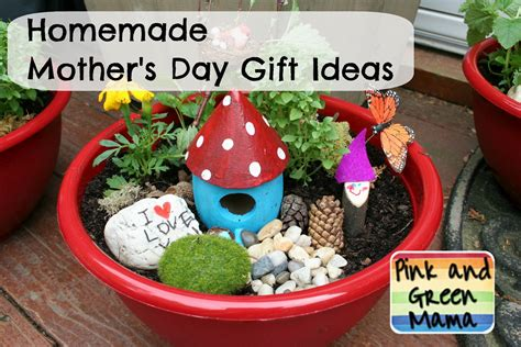 Handmade Mothers Day Gift Ideas - pink and green s day gift ideas