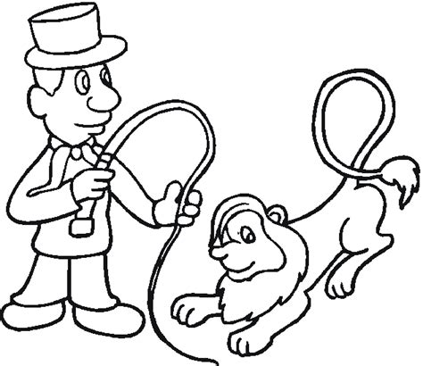 lion tamer coloring page circus lion coloring page