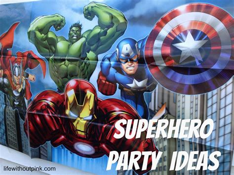 My Home Decoration Games by Superhero Birthday Party Ideas With Free Printables