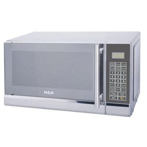 Stainless Steel Countertops Home Depot Rca 0 7 Cu Ft Countertop Microwave In Stainless Steel