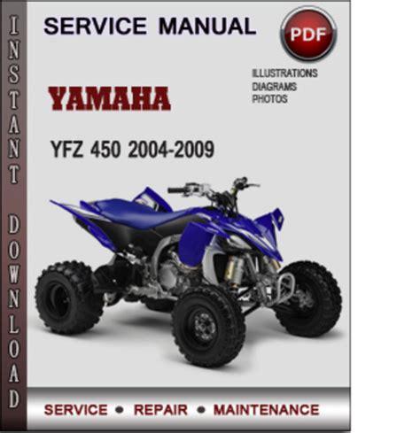 Yamaha Yfz 450 2004 2009 Factory Service Repair Manual