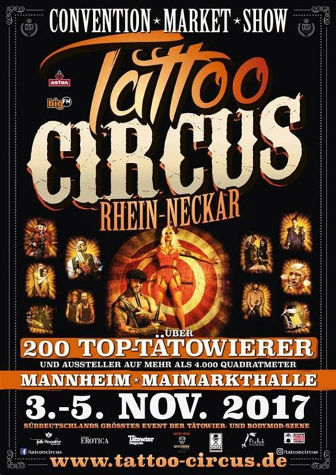tattoo convention mannheim tattoo circus rhein neckar november 2017