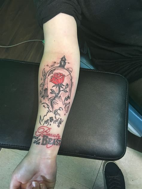 beauty and the beast couple tattoo my and the beast tattoos piercings