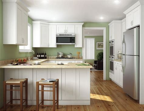 Aspen White Shaker Ready To Assemble Kitchen Cabinets White Kitchen Cabinets Images