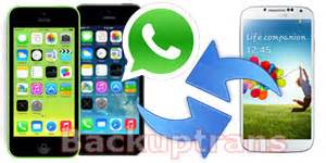 chat between iphone and android transfer whatsapp chat history between iphone and android on mac
