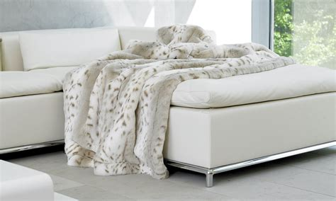 luchs faux fur throws the throw shop throws blankets
