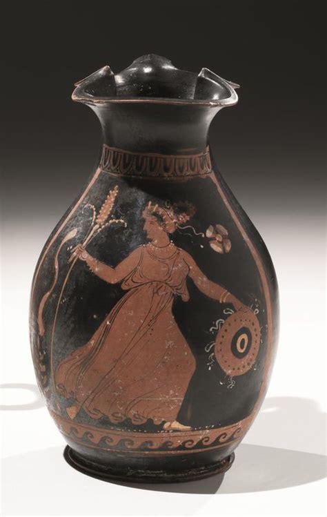 vasi a figure rosse oinochoe apula figure rosse asta reperti archeologici