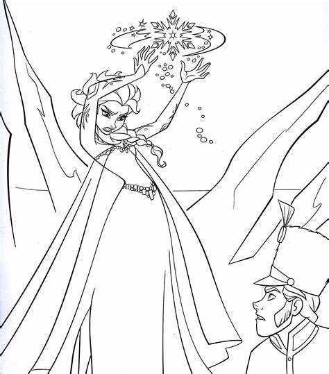 walt disney coloring pages queen elsa prince hans walt