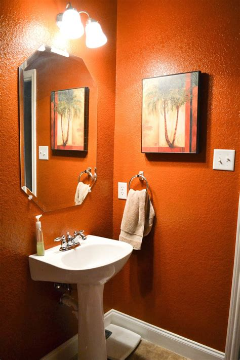 orange bathrooms our love and our blessing time was up for burnt orange