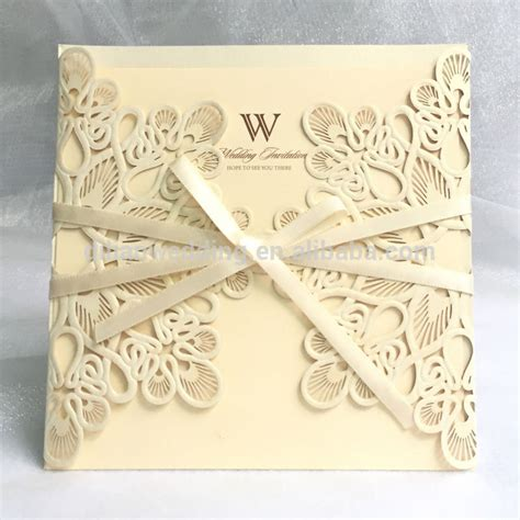 Wedding Invitation Card China by White Gold Wholesale Pocket Fold Invitations Wedding