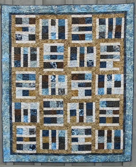 Masculine Quilts For Sale by Quilt Pattern Driftwood Layer Cake Tonga Treat