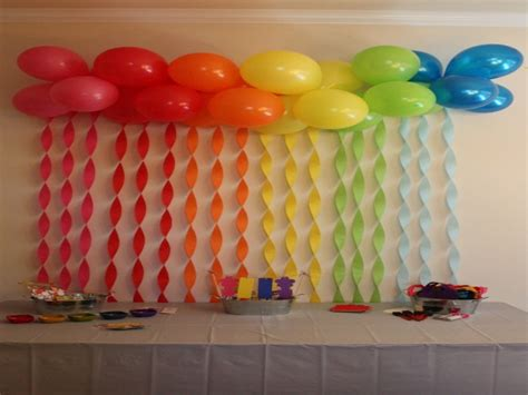 how to decorate with streamers kitchen table idea cool birthday balloon and
