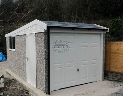 Hanson Garages Price List by Hipped Roof Pent Garages