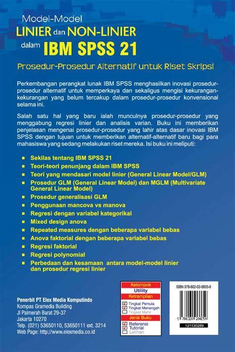 tutorial ibm spss 21 jual buku model model linier dan non linier dalam ibm spss