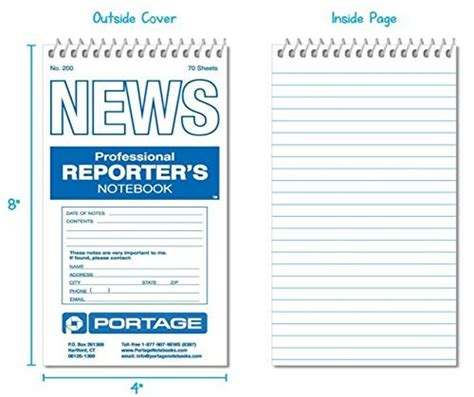 Reporters Notebook Template by Portage Reporter S Notebook 200 Gregg Ruled 4 X 8 Import It All