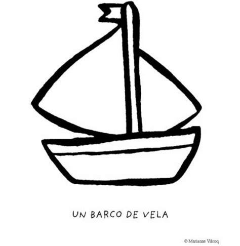 barcos sencillos para colorear dibujos infantiles de un barco de vela para imprimir y