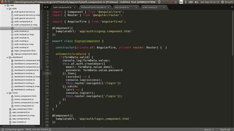 ionic2 tutorial github angularfire2 authentication khophi s blog
