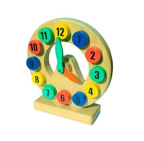 Mainan Jam Kayu jual mainan edukatif edukasi anak jam kayu