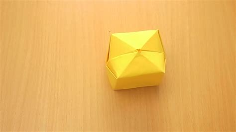 How To Make A Origami Cube - folded paper cube search engine at search