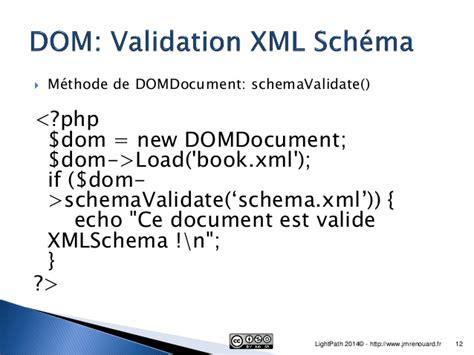 domdocument php tutorial xml fichier xml et php5