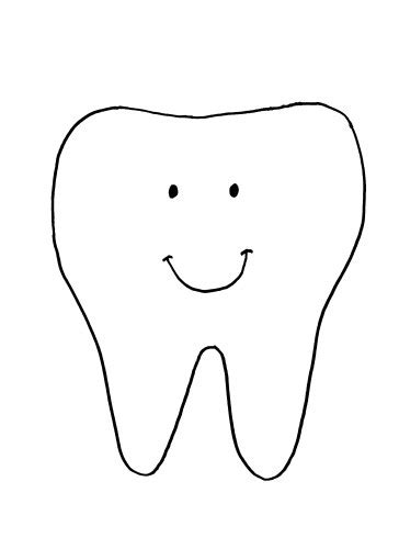 template of a tooth tooth template tooth pillow