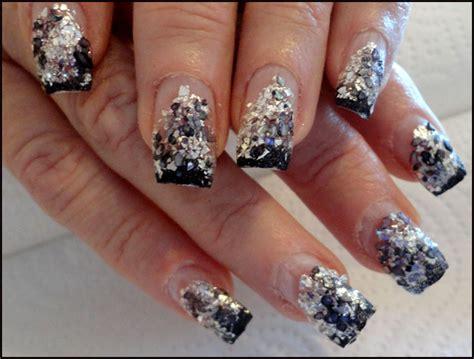 imagenes de uñas negras con plateado todo sobre manos y pies dise 241 o de u 241 as color negro con