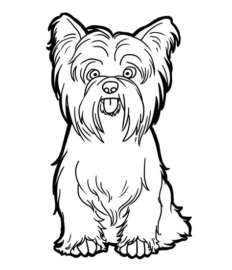 Yorkie Coloring Pages terrier by candybeelinearts on deviantart