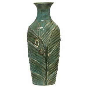green vase green leaf ceramic vase