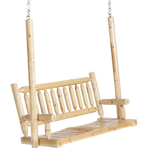 Deluxe Cedar Log Porch Swing Www Kotulas Com Free Shipping
