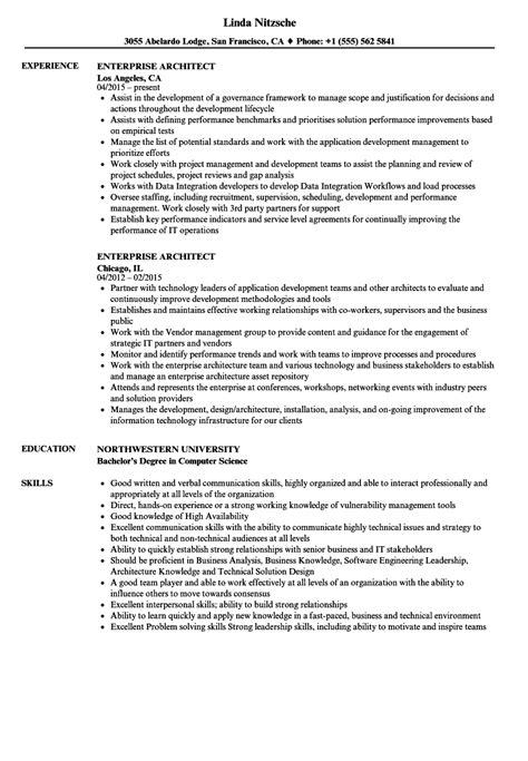 Enterprise Architect Resume by Resume Enterprise Architect Sanitizeuv Sle