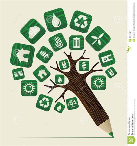 Custom Home Plans And Prices green world concept pencil tree stock vector image 32017724