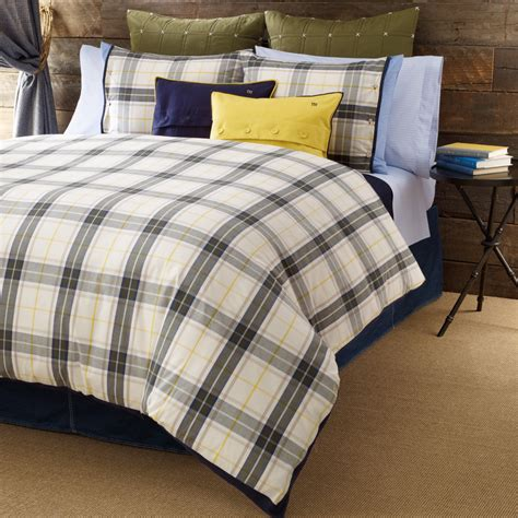 lake bedding shop tommy hilfiger plaid lake george bedding from