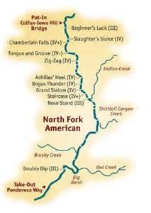 american river california map fork american river rafting gt mile by mile