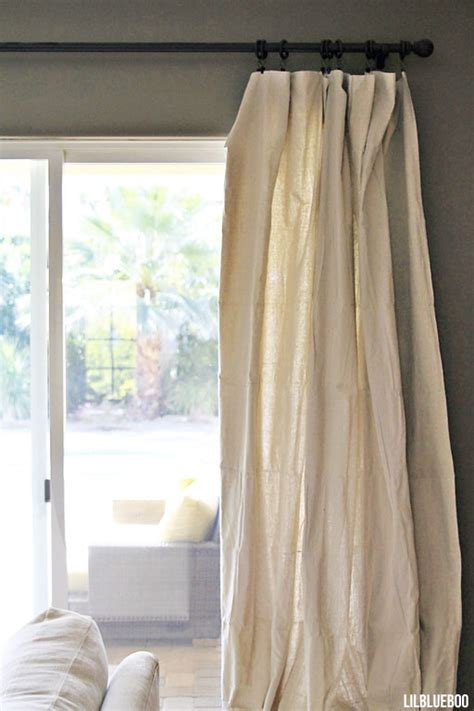 drop cloth curtain diy curtains made out of painters drop cloth canvas via