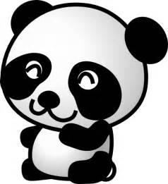 Panda Outline Drawing by Panda 7 Clip At Clker Vector Clip Royalty Free Domain