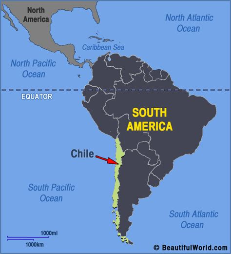 south america map chile map of chili facts information beautiful world