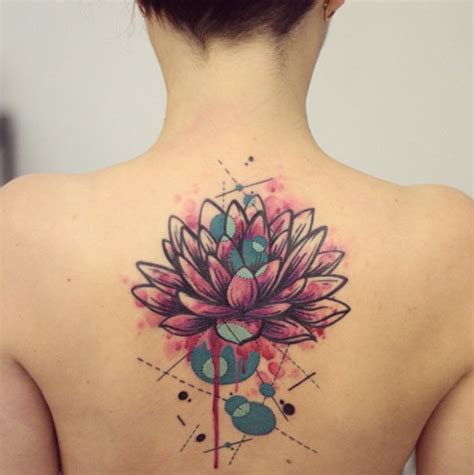 watercolor tattoo upper back 49 watercolor lotus tattoos ideas
