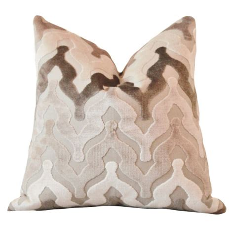 Brown And Grey Pillows by Ready To Ship 18 Or 12x18 Taupe Grey Brown Geometric
