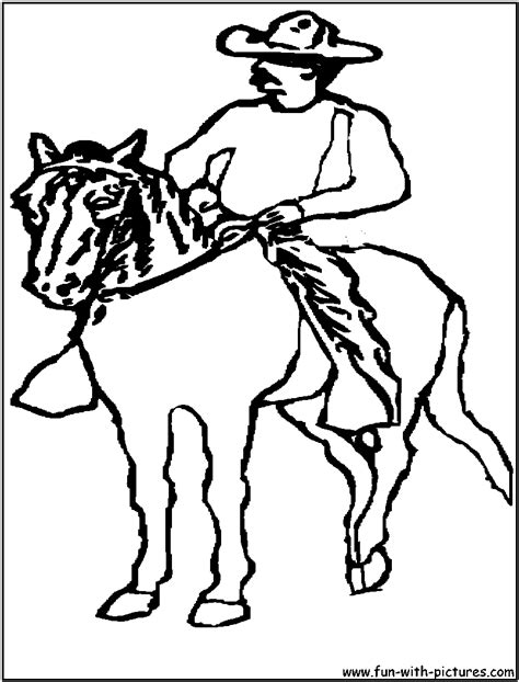 coloring pages of cowboys and horses cowboy