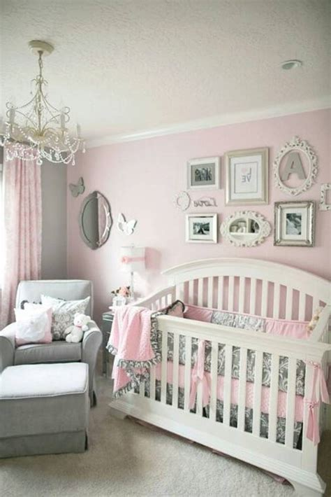full pink color girl baby room ideas decorate decorating ideas for baby girl nursery wall decor