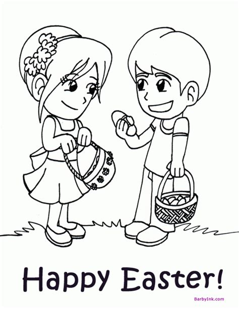 egg hunt coloring page preschool easter coloring pages coloring home