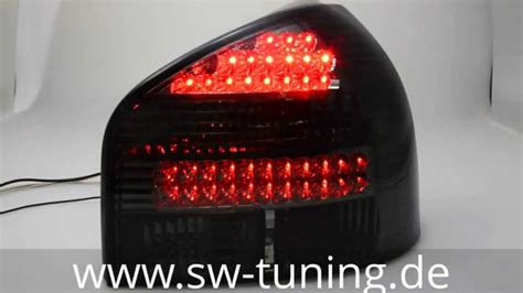Led R Ckleuchten Audi A3 by Led R 252 Ckleuchten Audi A3 8l Smoke Sw Tuning Youtube