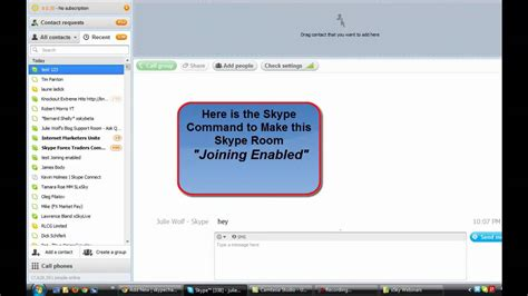 skype chat rooms skype chat link make a skype room joining enabled
