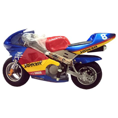 Mini Pocket mini bike pocket bike blue yellow 49cc dc outdoorsports