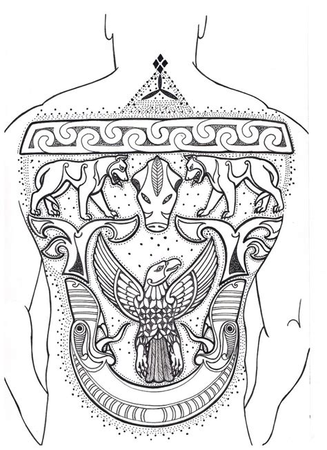 pictish tattoo designs pictish back crechad picts