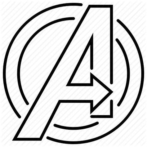 avengers logo coloring page superheroes line by bogdan rosu creative