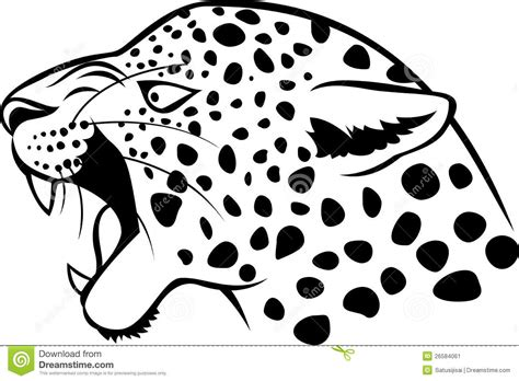leopard head tattoo stock vector illustration of portrait