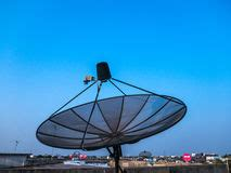 satellite dish antenna at modern playground editorial photography image 73779312